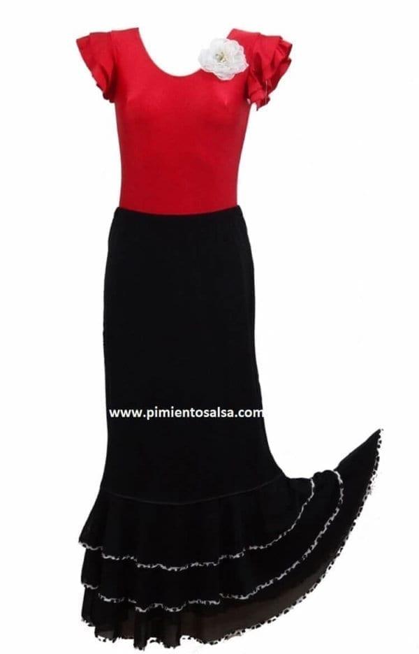Black flamenco skirt