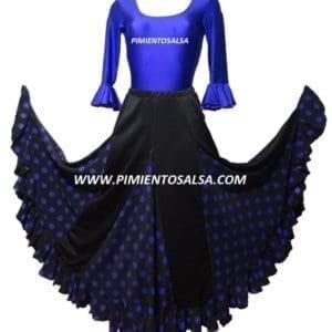 jupe de flamenco mauve