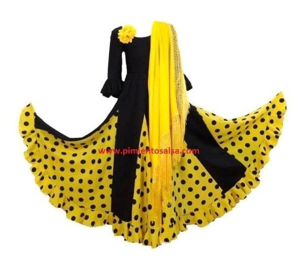 Flamenco skirt black yelow