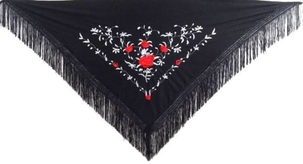 Flamenco shawl to lady