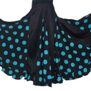Skirt Flamenco girl black/ blue