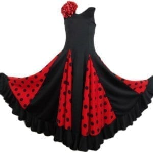 Flamneco childreen dress red and black
