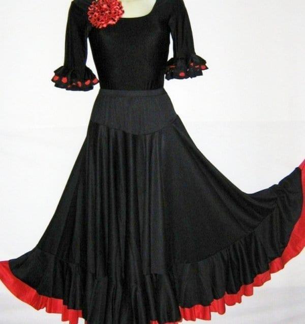 Lady flamenco skirt black