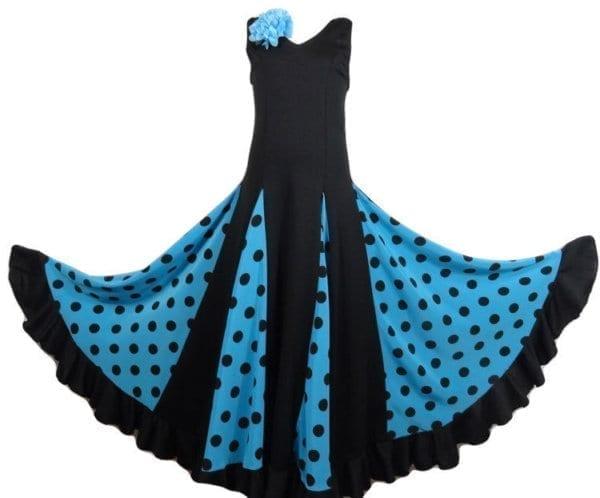 Flamenco dress polka dot black
