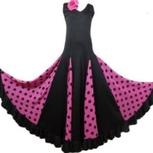 Flamenco childreen dress black and fushia