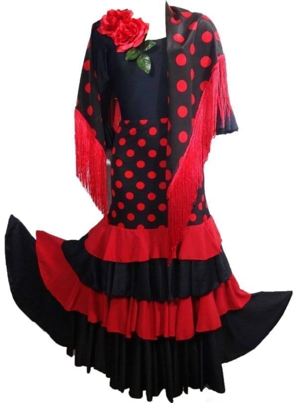 Lady Flamenco skirt black/red