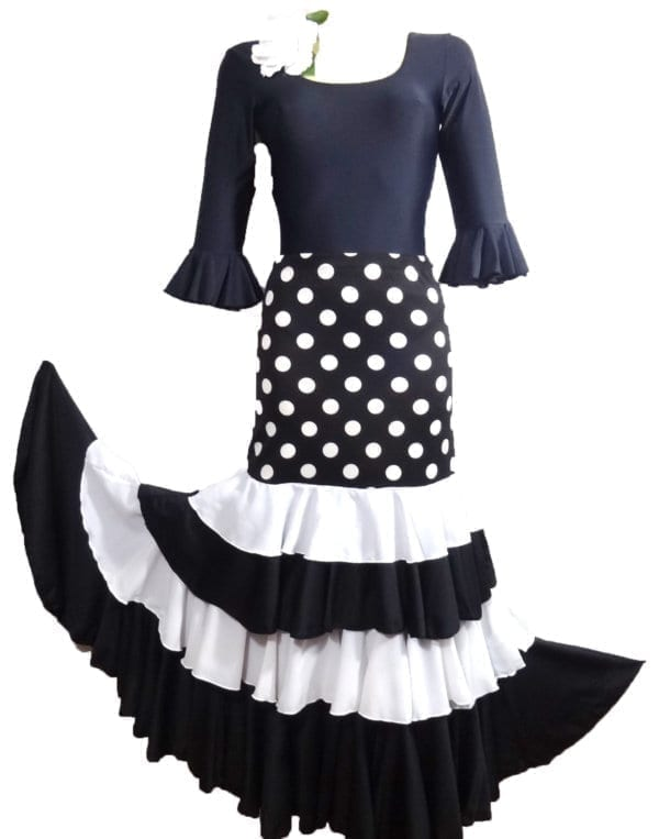 Flamenco skirt black/white