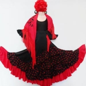 Girl Flamenco skirt to dance