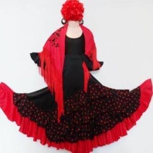 Girl Flamenco skirt to dance