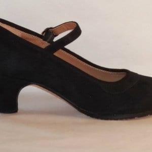 Flamenco shoe in suede black