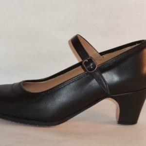 Flamenco shoe in skin black