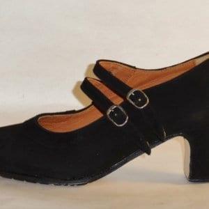 Flamenco shoe doble buckle in suede
