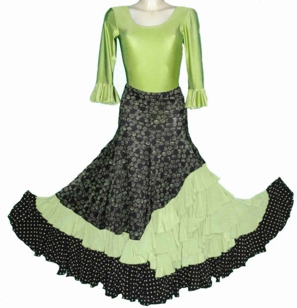 flamenco skirt green/black