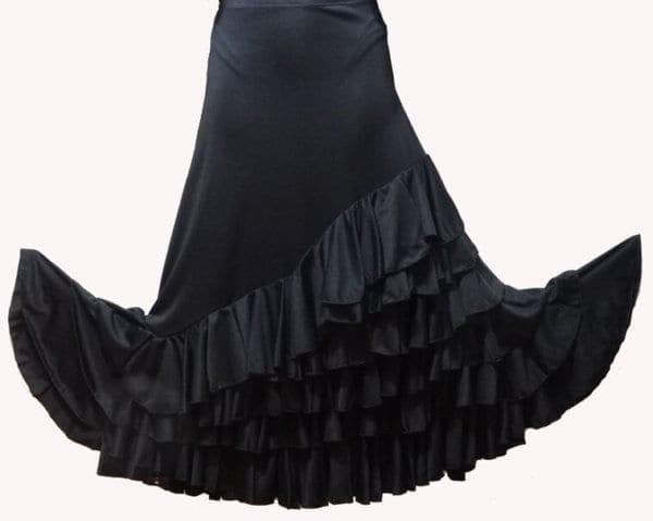 flamenco black lady skirt