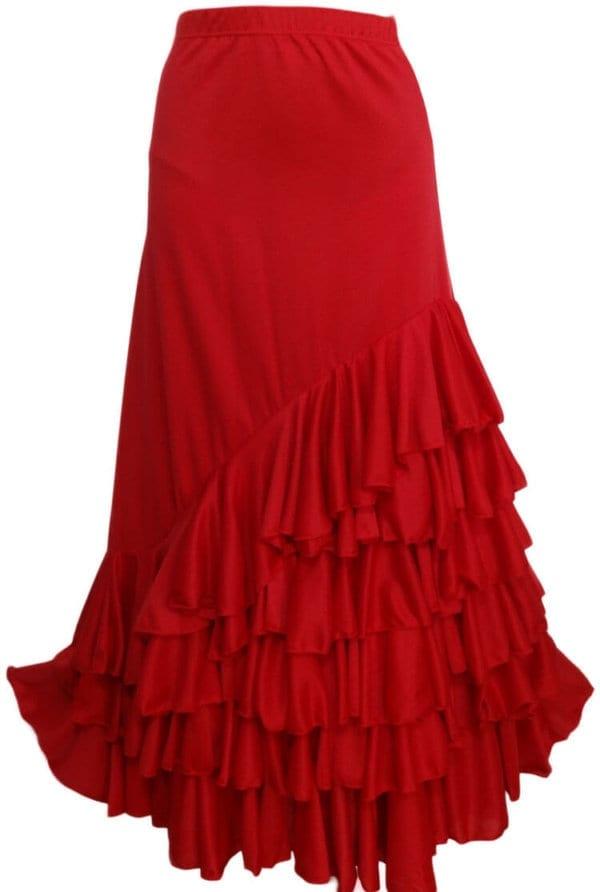 Jupe de Flamenco femme en rouge